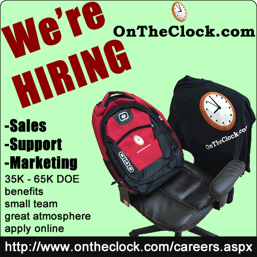 OnTheClock Is Hiring!